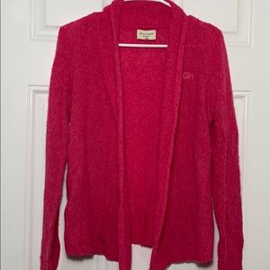 Gilly Hicks Pink Knit Open Cardigan
